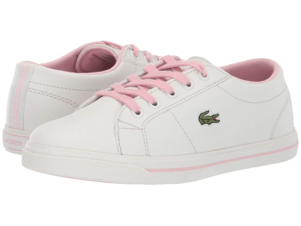 Lacoste Kids Riberac 119 2 CUC (Little Kid) (Off-White/Light Pink) Girl