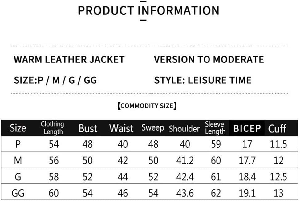 ER-JI Women's Casual PU Leather Motorcycle Jacket,Red,G