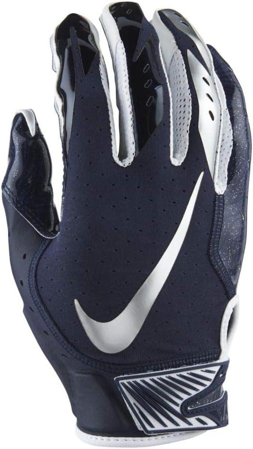 NIKE Men's Vapor Jet 5.0 Football Gloves Game College Navy/Chrom