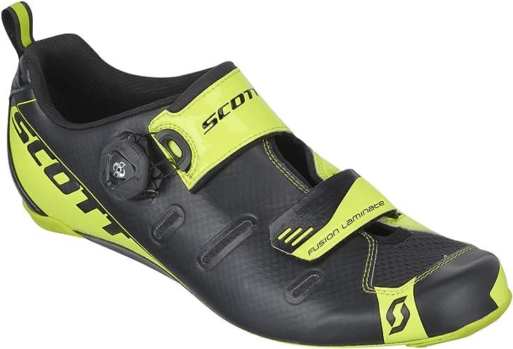 Scott Sports Mens Tri Carbon Triathlon Cycling Shoe - 242135-4755 (Black/neon Yellow - 44.0)
