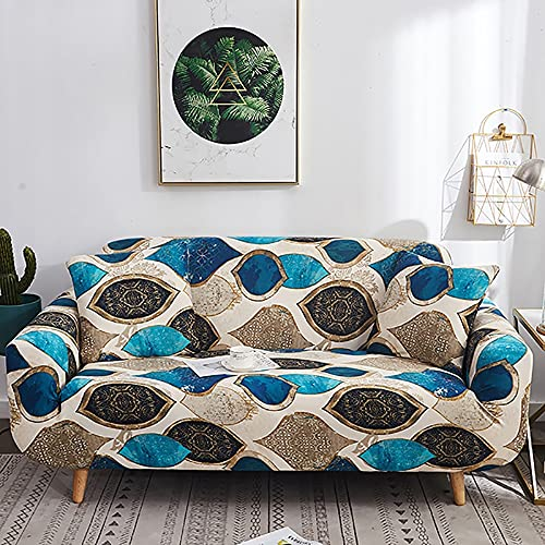 Fundas de sofá elásticas para Sala de Estar, Fundas elásticas de Material elástico, Fundas elásticas para sofá, Funda para Silla, sofá en Forma de L A24, 1 Plaza