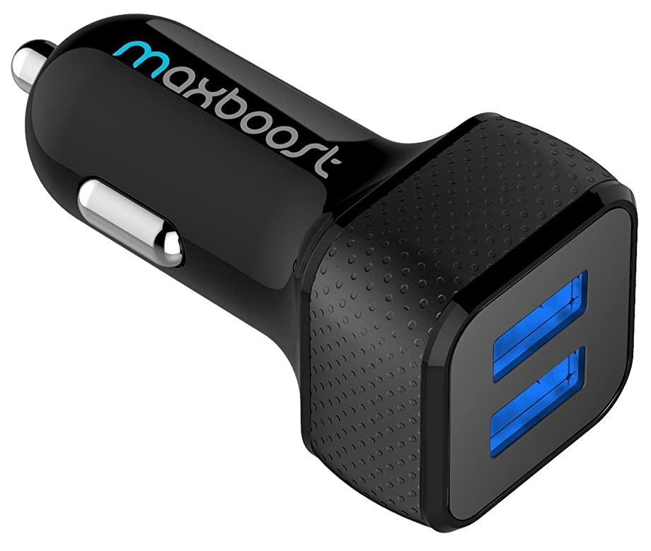 Car Charger, Maxboost 4.8A/24W 2 USB Smart Port Charger [Black] For iPhone X 8 7 6S 6 Plus, 5 SE 5S 5 5C, Galaxy S9 S8 S7 S6 Edge, Note 8 4, LG G6 G5 V10 V20, HTC,Nexus 5X 6P,Pixel,iPad Pro Portable