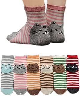 striped cat socks
