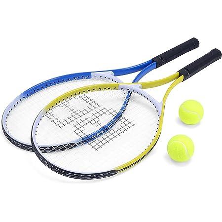 Unibos Aluminium Tennis Rackets with 2 Tennis Balls & Carry Case Cover Sport Fun Adult Children