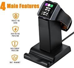Aresh Compatible with Fitbit Ionic Charger, 3.9 feet Cable Cradle Holder USB Charging Dock Station Cable Compatible Fitbit Ionic Smartwatch, Stand for Mobile Phone(NOT Work with Ionic case) (Black)