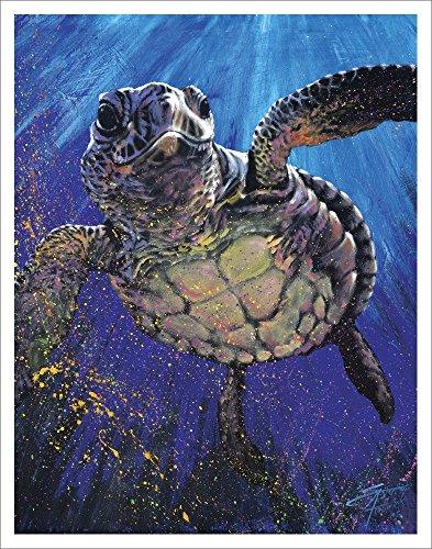 Swimming Turtle Plush Blanket