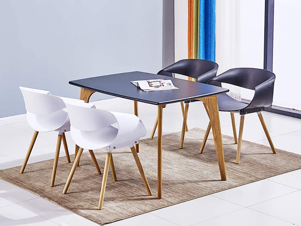 HSRG Maison Salle à Manger Chaise Restaurant Creative Lounge Chaise Bureau d'étude Tabouret de Plastique pour Adultes Chaise Dossier,Yellow White