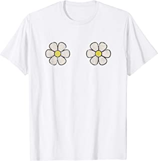 Daisy Boobs Hippie Flower T Shirt Vintage Graphic Effect