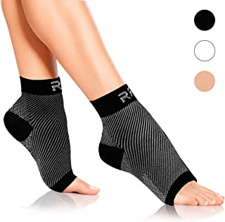 Plantar Fasciitis Foot Compression Sleeves for Injury Rehab & Joint Pain. Best Ankle Brace - Instant Relief & Support for Achilles Tendonitis, Fallen Arch, Heel Spurs, Swelling & Fatigue
