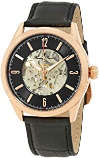 Lucien Piccard Men's LP-10660A-RG-01 Loft Analog Display Automatic Self Wind Black Watch