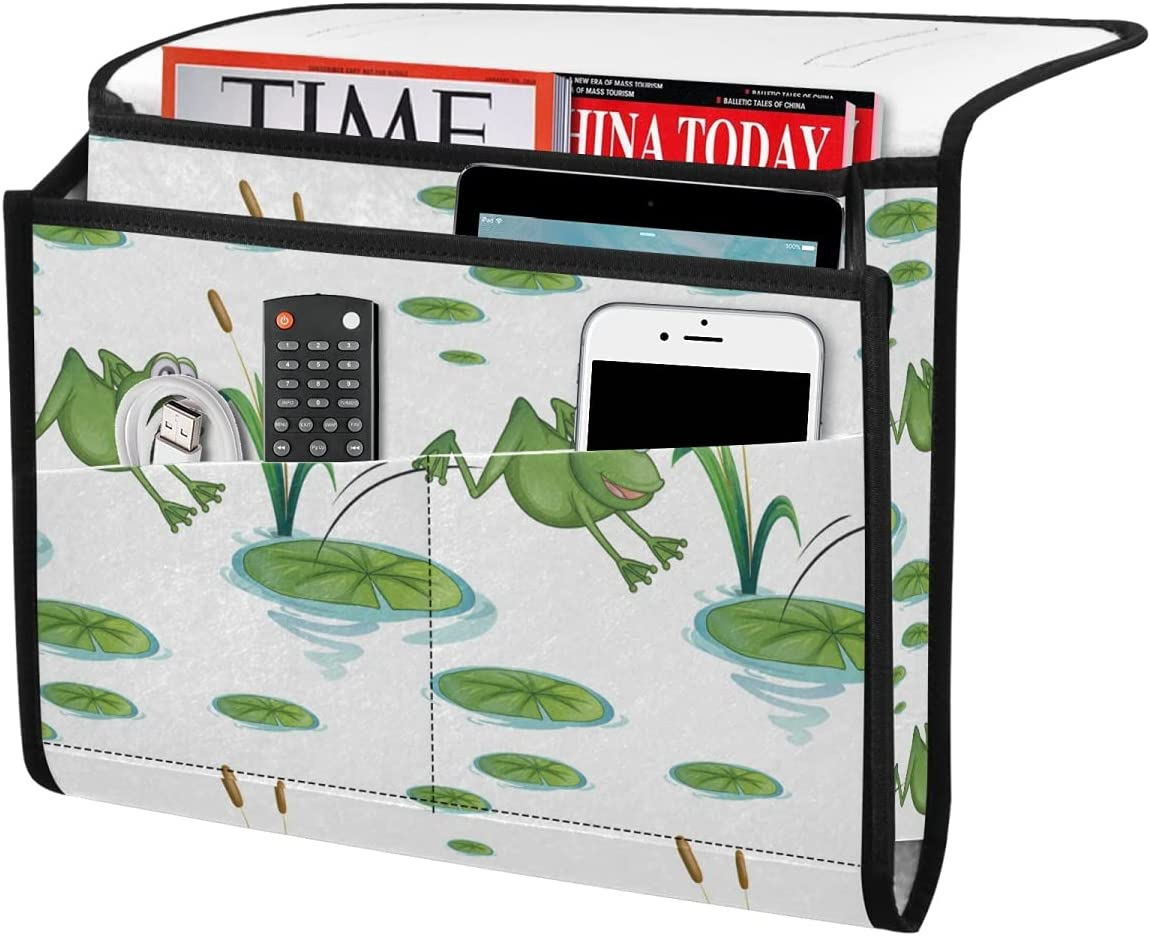 DOMIKING Frogs Bedside Storage Organizer Hanging Bed Caddy Max 90% OFF Felt Max 47% OFF