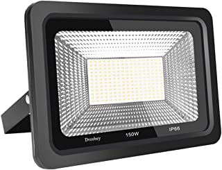 Drosbey 150W LED Flood Light, Bright LED Outdoor Lights, LED Work Light, LED Lights for Garden, Yard, Shop, Garage, Lawn, IP66 Waterproof, Super Bright 15000LM, 5000K Daylight White