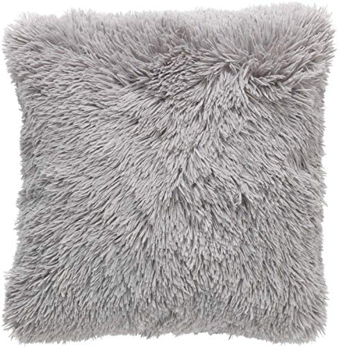 Dutch Decor Fluffy Sierkussen, Polyester, Licht Grijs
