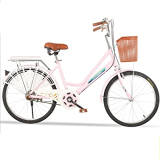 YUT US Stock Beach Cruiser Bicycle Retro Bicycle Womens Comfort Bikes Beach Cruiser Bike Commuter Bicycle 26 Inch Unisex Classic Bicycle Retro Bicycle Unique Art Deco Scooter Comfort Bicycle