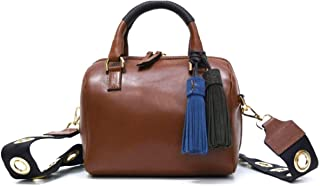 Genuine leather bag of, for shoulder, body and hand crossed, fashionable to fashion, small, brown. 100% Made in Italy