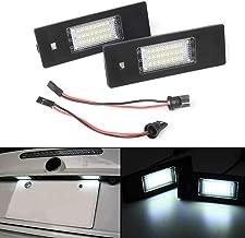 MOLEAQI 2 Piezas LED Luces de matrícula Kit de lámpara Blanca Canbus sin Errores para B-MW 1 6 Series E87 E81 E63 E64 E85 E86 F20 F21