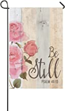 Be Still and Know that I am God Psalm 46:10 Polyester Garden Flag Outdoor Banner 12