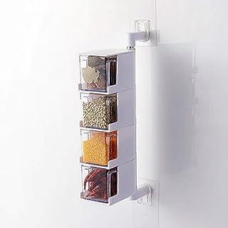 HUANGDAN Boîte de Rangement d'assaisonnement Support Mural étagère à épices Filature comptoir Cruet Sucre sel Pot conteneu...