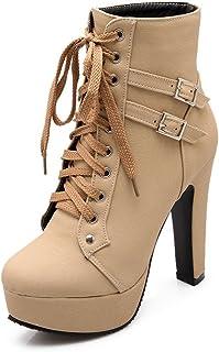 941ecfb2fed Amazon.com: Platform - Beige / Ankle & Bootie / Boots: Clothing ...