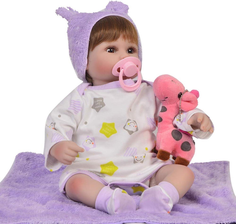 DMZH 43cm Simulation Weichkrperpuppe Reborn Babypuppen Genial Facial für Kids Toys Best Birthday Xmas Gift