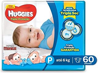 Fralda Huggies Tripla Proteção Mega P, 60 Fraldas