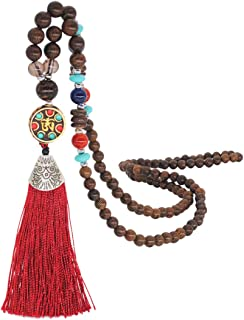 DOZOGU Yellow Tassel Necklace for Women Charms Collar Jewelry Pendant Choker Handmade Wood Beads Natural Stone Gifts Necklaces