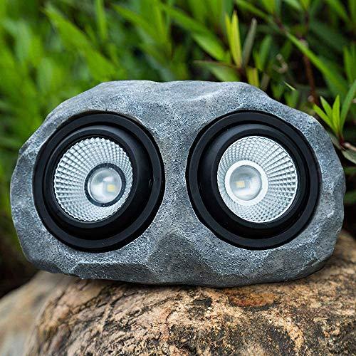 Solar Rock Lights Outdoor, LED Solar Waterproof Stone Light for Garden, Decor, Ground, Patio, Pathway, Walkway, Driveway, Yard (Double Head Landscape Rock Light)