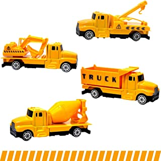 Gimilife Toy Trucks, Toy Car, Medium Toy Play Vehicles Toddlers,Trucks Construction Vehicles Toys 41:60 Die-Cast Alloy Toy Cars Set, Baby Educational Toys Gift Boys Girls Children Over 3 Years Old