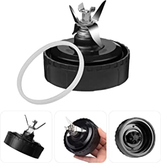 LFMTECH Ninja Blender Blade Replacement Parts, Bottom 6 Fins Assembly Within 1 Gasket Rubber Compatible for Nutri Ninja 16oz Blender Cup Bl770, Bl771, Bl773co,Bl780, Bl660, Bl740