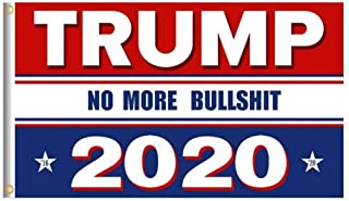 3 x 5 Foot Wholesale Flag - NO MORE BUILSHIT 2020 Donald J. Trump