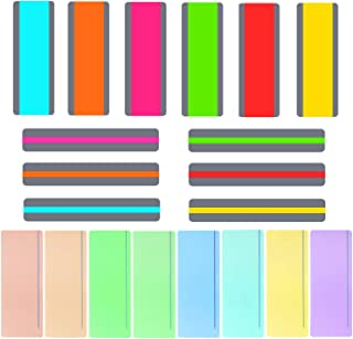 Aliyaduo 20 Pieces Guide Reading Strip Color Overlay Highlights Dyslexia Assistant 6 Small Styles 6 Large Styles and 8 Transparent Styles with Horizontal Lines
