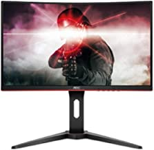 "AOC C24G1 23.6"" Curved Frameless Gaming Monitor, FHD 1920x1080, 1500R, VA, 1ms MPRT, 144Hz, FreeSync, DisplayPort/HDMI/VGA..."