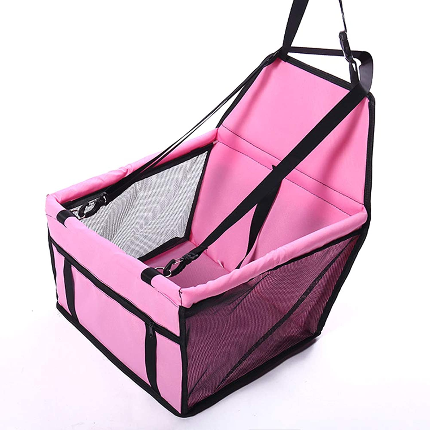 Pet Car Booster Seat with Safety Leash,Waterproof Travel Storage Bag Playpen Use for Small Dogs & Cats,5
