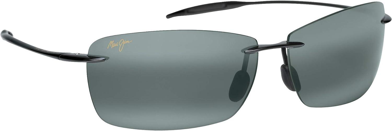 Maui Jim Sunglasses - Lighthouse / Frame: Gloss Black Lens: Polarized Neutral Gray, Gloss Black/Neutral Grey, 65