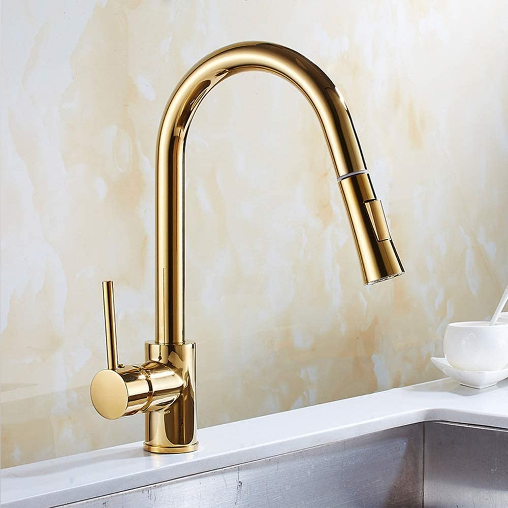 Yadianna OFFicial site Bathroom Products Kitchen Sink with P Faucet Retro Gold Same day shipping