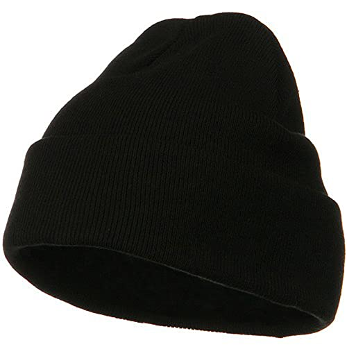 6072d084795 Big Size Superior Cotton Long Knitting Beanie-Black (for Big Head)