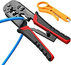 Strippers and Crimpers rj45 Crimping Tool 3 in 1 Multi Pliers for Ethernet Cable Wire Stripping 4P/RJ11 6P/RJ11 and 8P/RJ4...