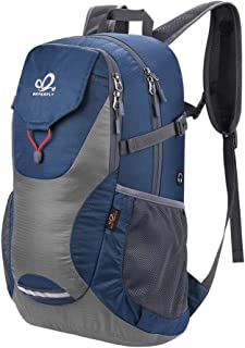 WATERFLY Waterproof Travel Hiking Backpack: Packable Lightweight Water Resistant Bag with Adjustable Chest Strap for Hiking Climbing Biking Trekking Accessory Camping Gear Beach Daypack