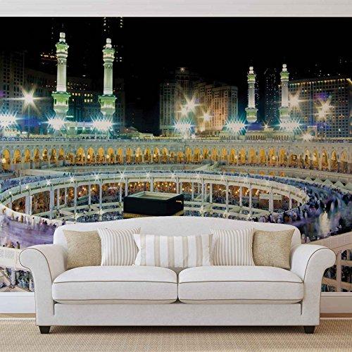 Mekka - Forwall - Fototapete - Tapete - Fotomural - Mural Wandbild - (3336WM) - XXL - 368cm x 254cm - Papier (KEIN VLIES) - 4 Pieces
