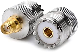 DHT Electronics 2pcs RF coaxial coax adapter SMA female to UHF female SO-239 SO239