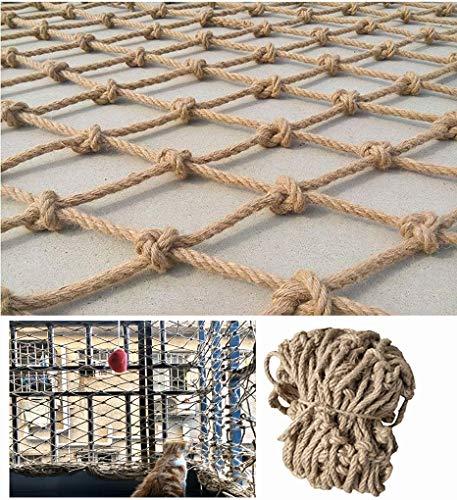 WL-net 0.5×4M(1.6×13ft) Sicherheitsnetz Zaun Hanf Seil Netz, Kinder Haustier Schutznetz, Balkon Geländer Treppen Anti-Fall-Netz, Kinderspielplatz Tunnel Klettern Spielnetz, Decke Wanddekoration Netz