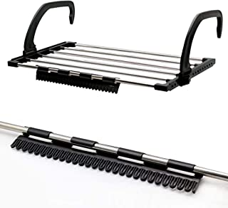 FLYNGO Foldable Stainless Steel Clothes Dryer Stand Drying Rack for Balcony, Window, Guardrail, and Corridor Multipurpose ...