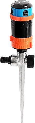 GRÜNTEK Asperseur Arrosage Jardin sur pic. Arroseur Rotatif avec réglage à Secteur 30°-360° pour Irrigation optimale ...
