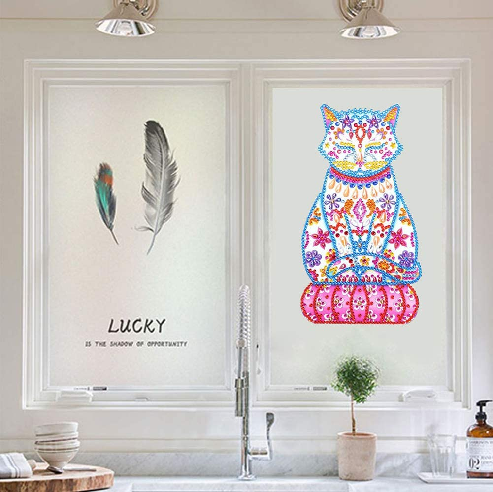 DIY 5D Diamond Painting Stickers Childrens Educational Toys Refrigerator Stickers Girl Parent-Child Toys.5D Diamond Painted Set Childrens Craft Set