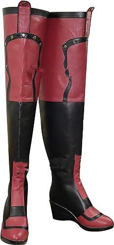 GSFDHDJS Cosplay Bottes Chaussures for Batman Harley Quinn 3