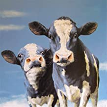 Paint-by-Number Kits for Adults - Cows - Includes Brushes, Paints and Numbered Canvas - 16x20 Inch - Great for Kids and Adults,Without Frame