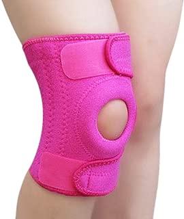 BeeChamp Adjustable Neoprene Knee Support Kneecap Compression Sleeve Open Patella Brace (Pink)