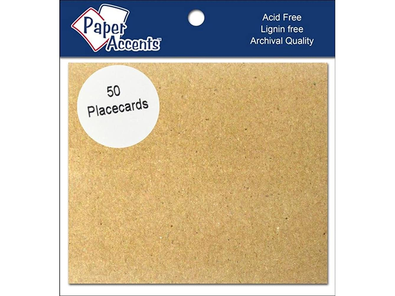 Accent Design Paper Accents 50pc Placecards Brown Bag
