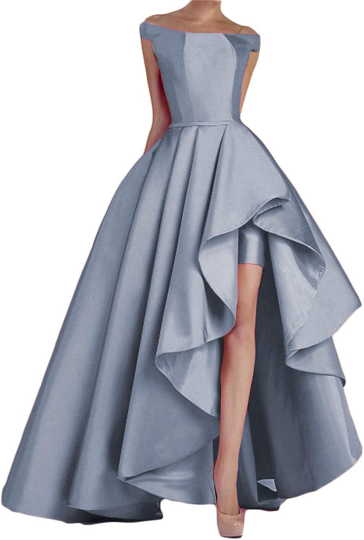 Dydsz Women's Off Shoulder Long Evening Prom Dresses Plus Size Formal Gowns D22