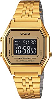 Casio Women's Digital Dial Stainless Steel Watch